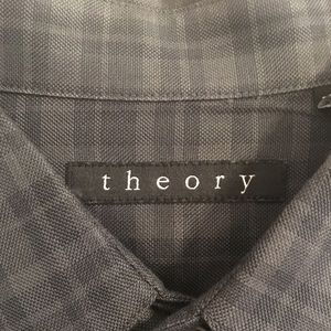 Theory plaid button down